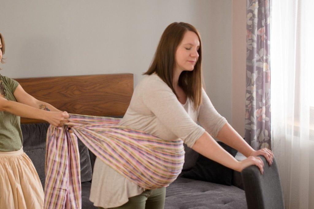 Geburtsvorbereitenden Massage